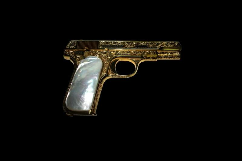 Gold Gun With Pearl Handle